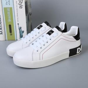 Designer D.G CALFSKIN NAPPA PORTOFINO SNEAKERS 2020 MEN's Leather Shoes Sneakers With Original Box