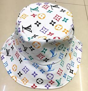 Großhandel Cap Designer Leder Brief Bucket Hut für Frauen der Männer faltbare schwarze Kappen-Fischer-Strand-Sonnenblende Verkauf Folding Man Bowler