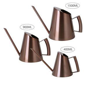 Edelstahl Gießkanne Gartentopf Lange Mund Gießen Kessel Blume Sprinkler Pot Werkzeuge 400ML 900ML 1500ML