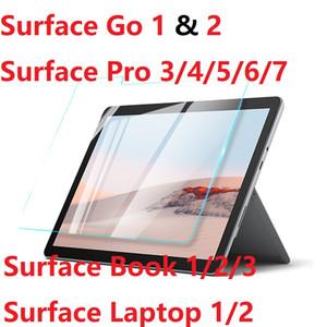 Pour Microsoft Surface Pro 3 4 5 6 7 Surface 2 Go Book3 / ordinateur portable HD en verre trempé Surface Pro X Film de protection écran