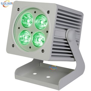 New 4X18W Outdoor Waterproof Battery Powered RGBAW UV Rechargeable LED Stage Par Light Smart LED UPLIGHT