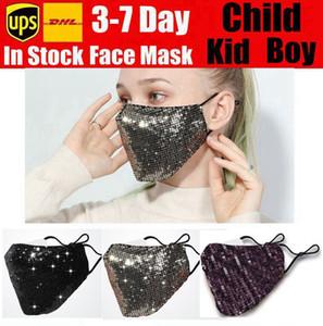 mascarilla Moda reutilizable lavable máscara máscaras PM2.5 Escudo cuidado de la cara del color oro Sun codo lentejuelas brillantes cubierta de la cara de montaje anti-polvo