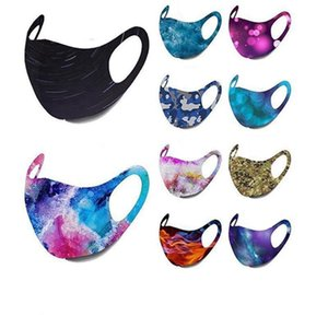 Starry Sky bouche Masque motif camouflage Galaxy Masque visage mignon mode boucle d'oreille réglables Masques Cover Designer Bouche IIA256