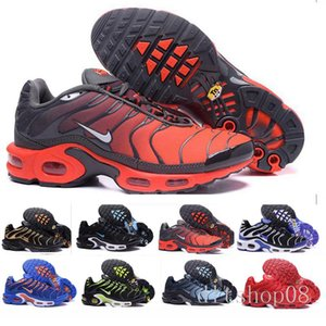2019 New Arrival Best Cassical Red kpu black white Chaussures plus tn ultra requin Breathable Casual Running Shoes Size9