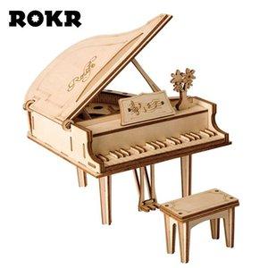ROKR DIY بيانو ألعاب 3D لغز لعبة خشبية الجمعية نموذج وود كرافت أطقم مكتب ديكور للأطفال الأطفال TG402