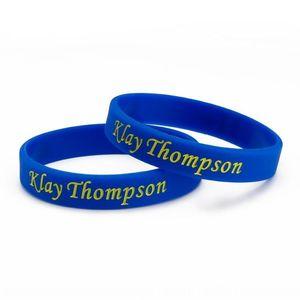 k5KHj guerreros Thompson No11 firma pulsera de silicona de baloncesto correa de muñeca de silicona deportes correa de muñeca pulsera brazalete personalizado