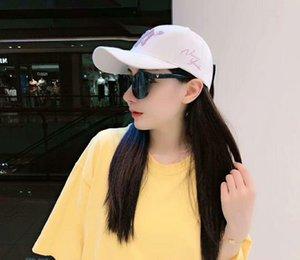 Hat female Korean version of the alphabet embroidery adjustable duck tongue versatile baseball cap for both men and women fashion sun hat