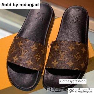Waterfront Mule Men S Sandali piatti Designer Shoes estate gomma flessibile Suola scorrere Pantofole con la scatola