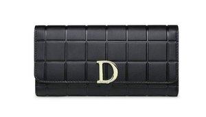 Women Versatile Wallets & Holders Bags Cowhide Long Wallet Hasp 10 Card Holder 2 Photo Holder 2 Note Compartment Zipper purse