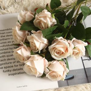 velvet rose bouquet simulation flower home decoration wedding party stage arragement props plant flower wall fake rose branch