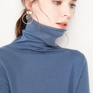 GejasAinyu 2020new maglioni moda 2020 dolcevita maglia maglione cachemire pullover inverno delle donne sweter cime Y200722