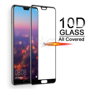 10D Tempered Full Protective Glass on For Huawei P20 P30 P10 Lite Pro Plus screen protector Film For Honor 9 10 8 v10 Lite glass