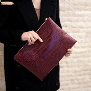 Borse Donna Classic frizione nuova delle donne frizioni di giorno grado superiore Crocodile Moda sacchetto del pranzo signore Zipper
