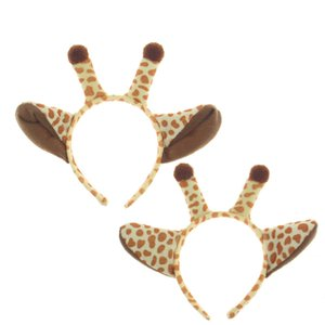Sticks en peluche girafe cheveux Halloween cosplay Bandeau Dress Up tête Accessores pour les enfants adultes XD21714