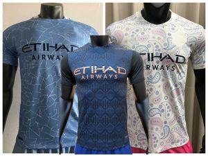Top 2020 2021 manchester Player version Soccer Jerseys G.JESUS BERNARDO DE BRUYNE STERLING KUN AGUERO city 20 21 football tight shirt
