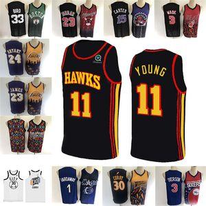 23 James 23 11 genç forması Michael 1 Hardaway 15 Carter 33 Kuş 3 Iverson Mitchell lik basketbol formaları 2020 yeni sezonda lebron