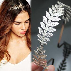 Roman Leaf Branch Dainty Hair Crown Tiara de noiva Head Dress Boho Alice Band Bridal Bride Wedding Jewelry