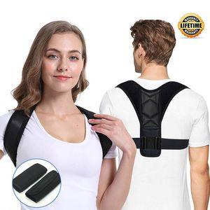 Apoiar as mulheres homens homens ajustáveis corretor de postura ombro cinta clavícula cinto sem desleço