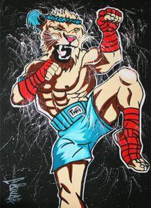Clem $ tailandesa do leão Art Pintura Home Decor pintado à mão HD cópia da pintura a óleo sobre tela Wall Art Canvas Pictures 200729