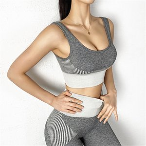 LiSCN Sexy Sport Yoga Costumes Set Femmes Fitness Vêtements de sport femme Gym Leggings matelassée Sport Push-up Soutien-gorge