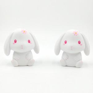 Spremere Bianco Pink Rabbit Squishy Kawaii lento aumento Squishy decompressione animali giocattoli per alleviare lo stress regalo per adulti