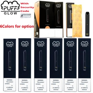 Nuovo PUFF BAR GLOW monouso dispositivo Pods preriempita Starter Kit 280mAh Batteria 1.4ml Cartridge Vape Pen Codice di sicurezza LED vaporizzatori