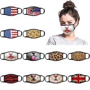 Designer mask with breathing valve dustproof mask foldable and washable valveless protection dustproof PM2.5 mask free shipping