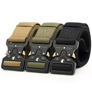 8 Color 4.5CM Wide Army Canvas Belt Men Tactical Designer Belts For Jeans Pants Elastic Nylon Belt Black Metal Buckle Waist Belt