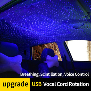 FORAUTO Car Atmosphere Lamp Starry Sky Night Light Interior Lamp Star Roof Decoration With Rotating Car Projection Light