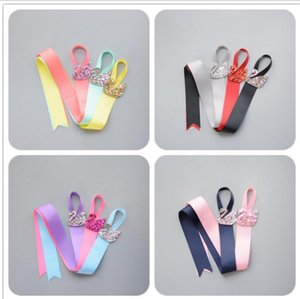 SWAN Ribbon Rainbow Colors Toddlers Hair Clip Storage Tape Assorted Hairpins Holder Kids Hair Accessories Holding Band S2