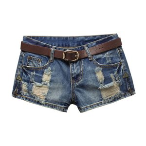 Denim Shorts Women 2020 Fashion Ladies Ripped Hole Low Waist Summer Short Jeans Sexy Mini Shorts For Woman Plus Size 3XL