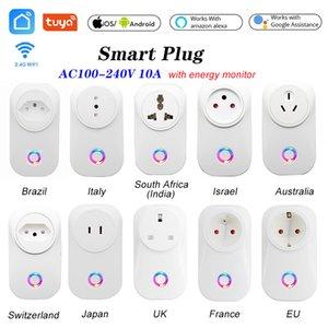 WIFI Smart Socket Smart Plug EU UK Swit AU BR FR JP Israel Ita ZA Plug 10A Remote Control Alexa Google Home Energy Monitor