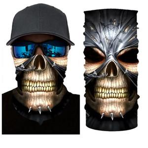 Halloween 3D Imprimer Masque Joker Foulard Bandeau Cagoules Crâne mascarade Masques pour Ski Moto Cyclisme Pêche Sports de plein air