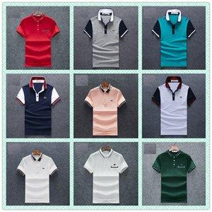 OLO 남성 셔츠 남성 짧은 소매 솔리드 셔츠 Camisa 폴로 Masculina 캐주얼 코튼 플러스 브랜드 탑은 티는 M-3XL을