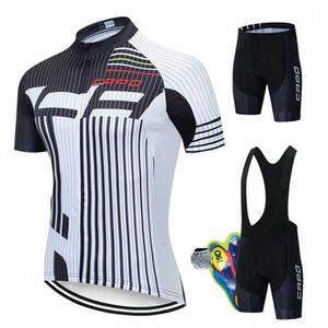 2020 2020 КАПО Pro задействуя Джерси Set Summer Mountain Bike Одежда Team Велосипед Велоспорт Джерси Спортивная одежда Костюм Майо Ropa Ciclismo TNf5 #