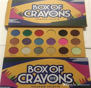 makeup Palette!BOX OF CRAYONS Cosmetics Eyeshadow Palette 18 Colors iSHADOW Palette Shimmer Matte EYE beauty DHL shipping