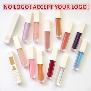 로고 없음! 10 색 극단적 인 빛나는 립글로스 유성 립 글레이즈 사용자 정의 로고 인쇄 방수 긴 지속 LipGloss