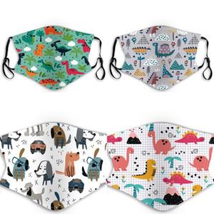 Masques Mode Bébé Enfants Chien Chat Arbre léopard arc-en-couleur du visage respirateurs réutilisables en tissu Mascarilla enfants Lavable 5vl C2