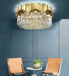 Phube Lighting Gold Crystal Ceiling Light Luxury Modern Bedroom LED Lustres De Cristal Home Indoor Lighting Fixtures LLFA