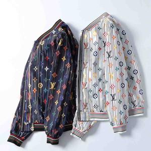 Fashion Jacket Windbreaker Long Sleeve Men's Jacket Clothing Zipper with Animal Letter Pattern Stylist Jacket