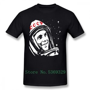 Гагарин тенниска Юрий Гагарин Футболка Смешной 100% хлопок майка с коротким рукавом Graphic Plus Размер Мужской Tshirt