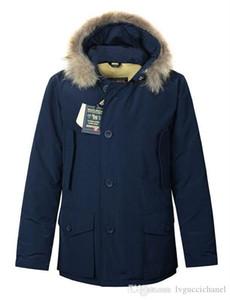 ricco d'oca degli uomini di marca Arctic Anorak Piumini uomo inverno ultima moda lana piumino 90% all'aperto Spesso Parka cappotto caldo outwear