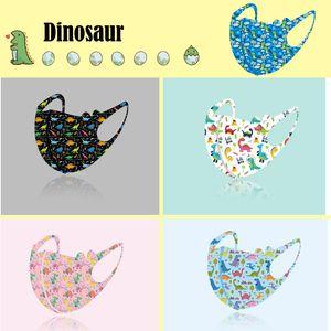 20шт Динозавр детей Маски против пыли Загрязнение Мода Печатные моющийся маска Многоразовый Student Kids Party маска для 4-12 лет