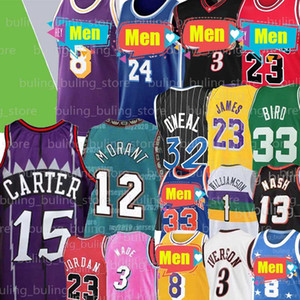 Allen Iverson 3 Jersey Vince Carter 15 LeBron James 23 Michael Ja Uccello Morant Dwyane Wade McGrady Steve Nash Shaquille ONeal Ray Allen