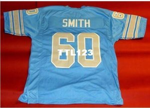 Men CUSTOM #60 1970's SMIHT BLUE College Jersey size s-4XL or custom any name or number jersey