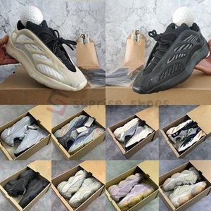 Adidas Yeezy Boost  Mit Box Azael Alvah Glow 700 v3 Reflektierende Kanye West Magnet Teal Krankenhaus Blau Welle Runner Runing Schuhe Leinen 500 Blush Bone Sneaker