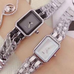 Релох Hombre Lady Часы Бизнес Женская мода Staniless стали часы Black Quartz часы оптом кожаный ремешок розового золота часы 2020