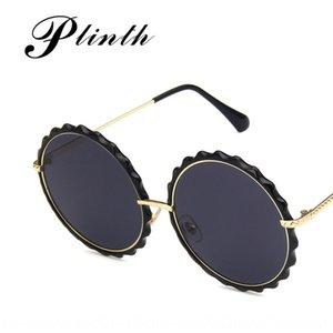 New Korean fashion big round frame sun glasses fashion wave frame thin face sunglasses TikTok Net red sunglasses