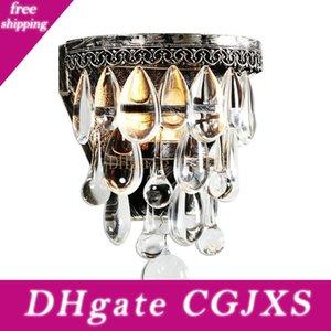 Luxo cristal Lâmpada de parede vintage cristal Wall Light E14 Sconce Wall Lights Led Light Bar flexível luminárias