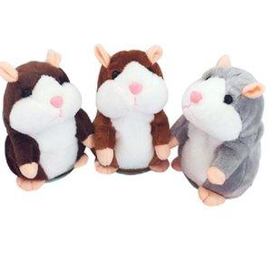 Pelúcia animais falantes Hamster Rato Pet Plush brinquedo do rato Fala bonito Som Gravar Hamster Falar Registro mouse Stuffed Toy Crianças DHD277